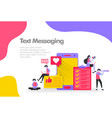 text messaging concept send and receive messages vector image vector image