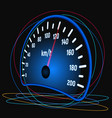 the speedometer of the car vector image