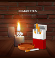 tobacco realistic poster vector image