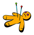 voodoo doll icon icon cartoon vector image vector image