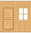 Wall from boards vector image vector image