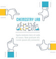 website banner and landing page chemistry lab vector image