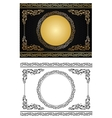 gold radial ornament vector image