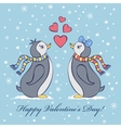 card with penguines vector image