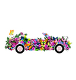 floral convertible vector image