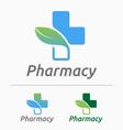 Medical pharmacy logo design vector image