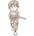 A simple drawing of a soldier