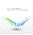 abstract blue and green lines background vector image vector image