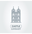 Abstract castle logo vector image vector image