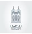 Abstract castle logo vector image