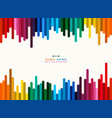 abstract of colorful stripe line background with vector image vector image