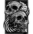 american skull vector image vector image
