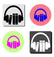 audio guide flat icon vector image vector image