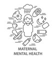 banners for maternal mental health vector image vector image