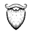 beard in engraving style on white background vector image vector image