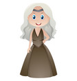 beautiful woman in medieval outfit vector image vector image
