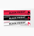 black friday sale web banner flat of shopping bag vector image vector image