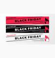black friday sale web banner flat shopping bag vector image