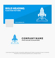 blue business logo template for rocket spaceship vector image