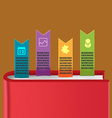 Bookmark Info Graphic Template Design vector image