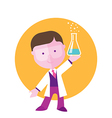 boy student studying chemistry vector image