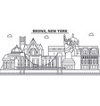 bronx new york architecture line skyline vector image vector image