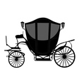 brougham carriage silhouette vector image vector image