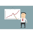 Businessman presenting a growing chart vector image
