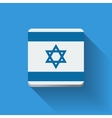 Button with flag of Israel vector image