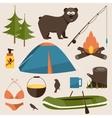 Camping set Flat vector image