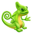 cartoon chameleon vector image vector image