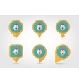 Chicken mapping pins icons vector image vector image