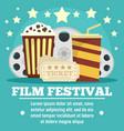 cinema film festival concept banner flat style vector image vector image