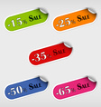 Colorful stickers for sale discount vector image vector image