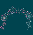 couple pink and blue of dandelion flowers vector image