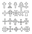 crosses vector image vector image