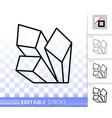 crystal simple black line icon vector image vector image