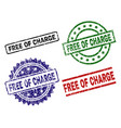 damaged textured free of charge stamp seals vector image