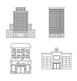 design of architecture and exterior icon vector image
