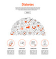 diabetes treatment card vector image vector image
