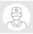 Doctor avatar line icon vector image vector image