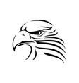 eagle head image vector image