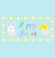 easter egg hunt poster cute cartoon happy vector image vector image