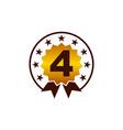 emblem best quality number 4 vector image