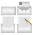 envelope on white background vector image