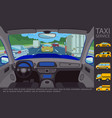 flat taxi service concept vector image vector image
