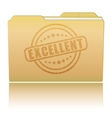Folder with Excellent damaged stamp vector image vector image