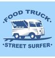 Food truck logo vector image