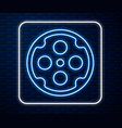 glowing neon line revolver cylinder icon isolated vector image vector image