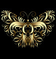 gold butterfly patterned vector image